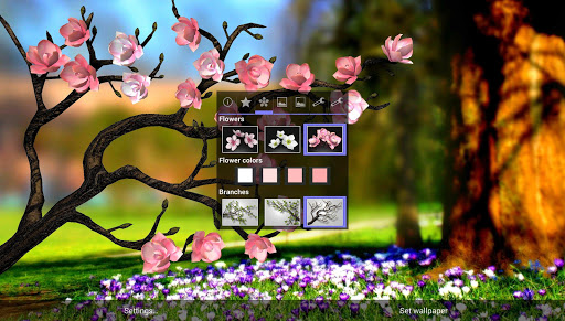 Spring Flowers 3D Parallax Pro app for Android screenshot
