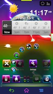 Next Launcher Theme - Aurora