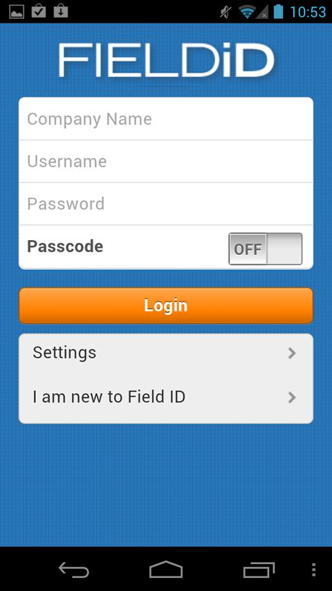 Field ID - screenshot
