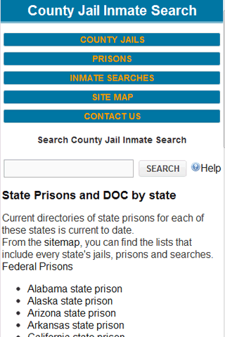 County Jail Inmate Search- screenshot