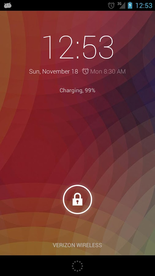 Fixed 4.2 Clock Widget - screenshot