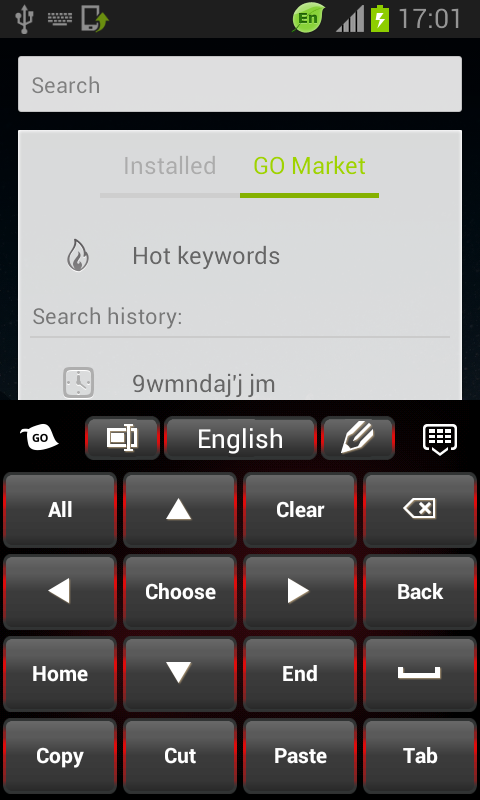 Black Red Keyboard - screenshot