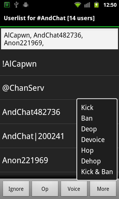 AndChat (Donate)- screenshot