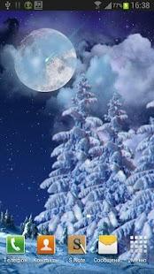 Winter night live wallpaper screenshot