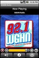 Screenshot of WGHN Radio