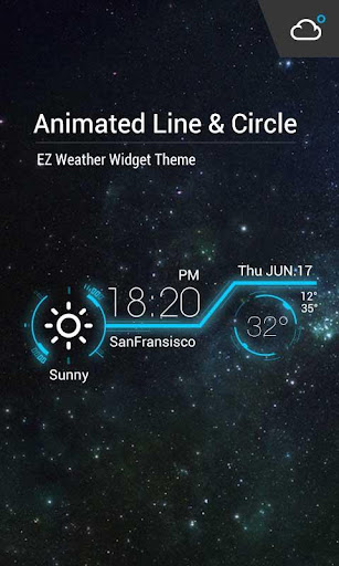 Animation Clock Weather Widget