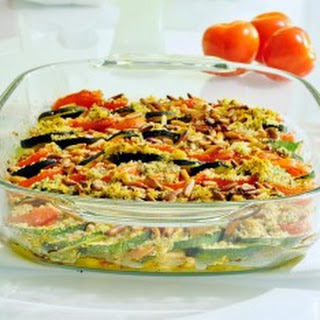 Zucchini Tomato Tian with Pine Nuts