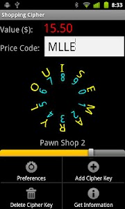Shopping Cipher screenshot 1