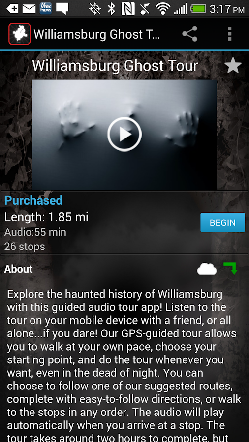 Williamsburg Ghost Tour- screenshot