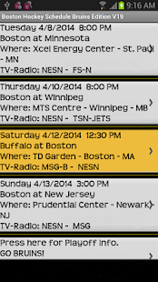 Schedule Boston Bruins Fans - screenshot thumbnail