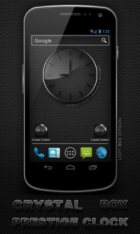 Glass clock. widget. BOX. PRO- screenshot