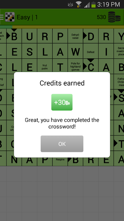 Crosswords- screenshot