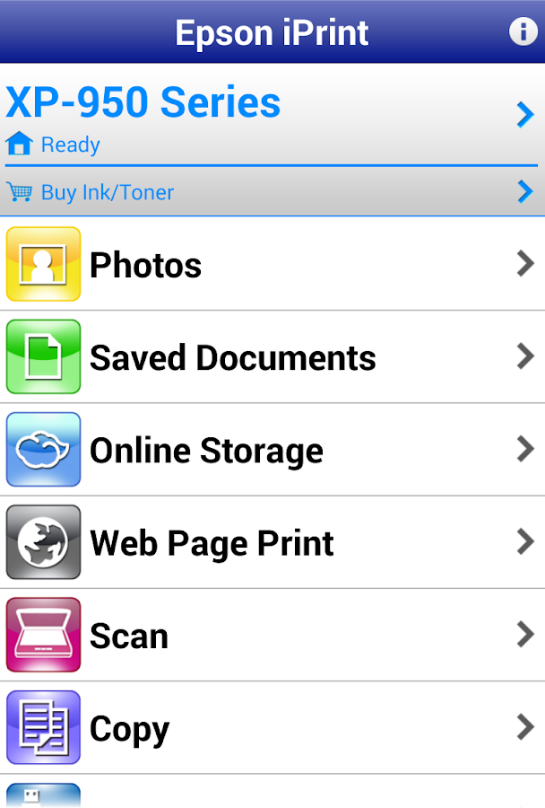 Epson iPrint- screenshot