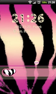 Pink Zebra Theme for GO Locker- screenshot thumbnail