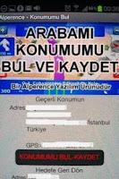 Screenshot of Alperence Konum-Arabami Bul