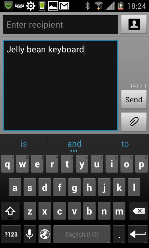 Jelly Bean 4.2 Keyboard Full - screenshot