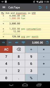 CalcTape Free Tape Calculator v1.4.5(201512181451) Pro