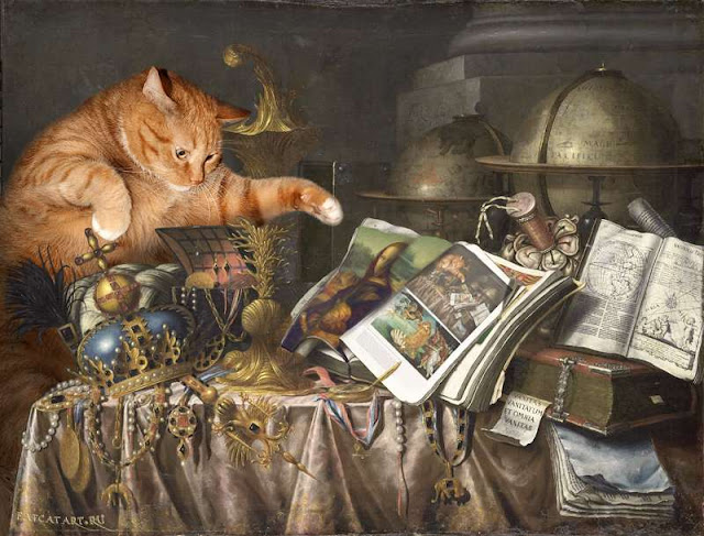 Vanitas. The Cat and the Catalogue