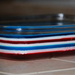 Fourth of July Layered Gelatin.