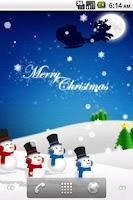 Screenshot of Christmas Card Live Wallpaper