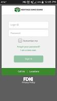 Screenshot of Heritage Oaks Bank Mobile App