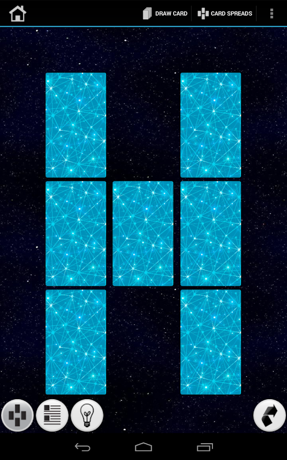 Galaxy Tarot Cards - screenshot