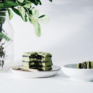 Mini Green Tea Chocolate No-Bake Ice Box Cake