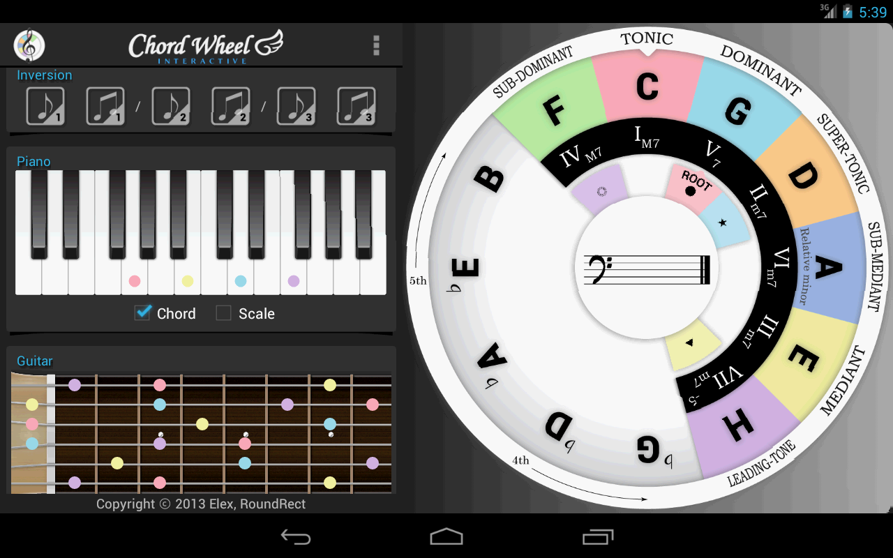 Chord wheel circle of 5ths le android apps on google play chord wheel circle of 5ths le screenshot hexwebz Images