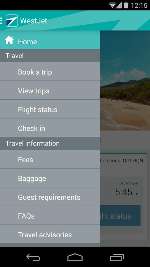 WestJet - screenshot