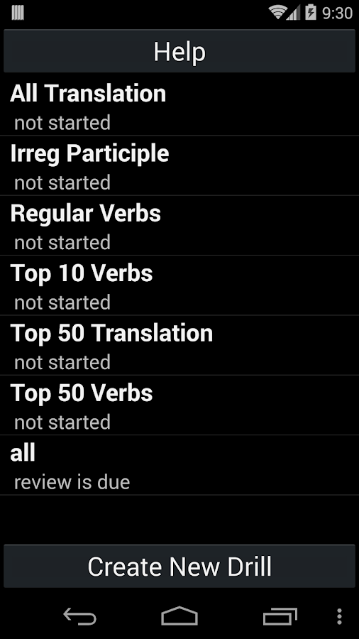 Italian Verb Trainer- screenshot