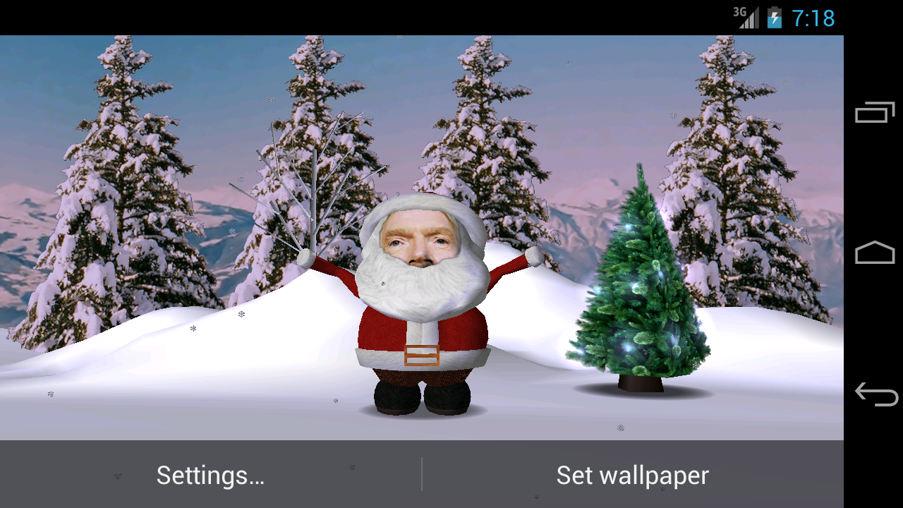 Santa Face Live Wallpaper - screenshot