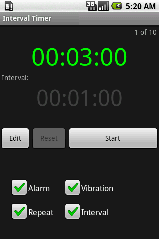 Interval Timer - screenshot