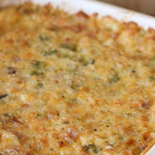 Parmesan Chicken & Rice Casserole.