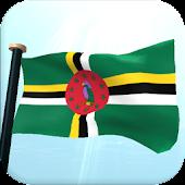Dominica Flag 3D Wallpaper