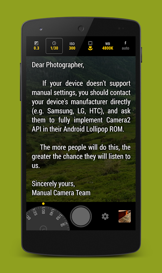 Manual Camera- screenshot
