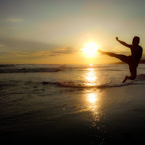 Sunset Jump by Dayan Ramly - People Portraits of Men