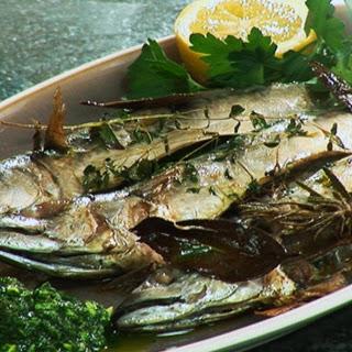 Mackerel with Salsa Verde