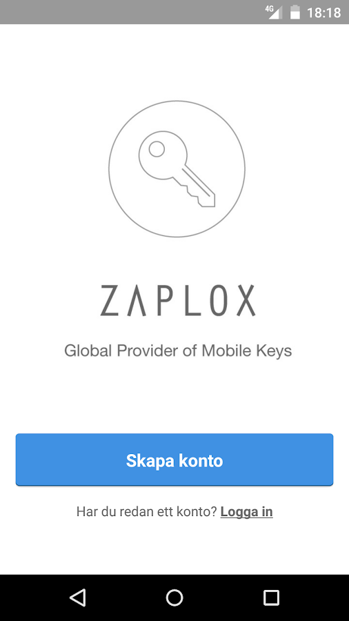 Zaplox Mobile Keys- screenshot