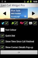 Screenshot of Last Call Widget Pro
