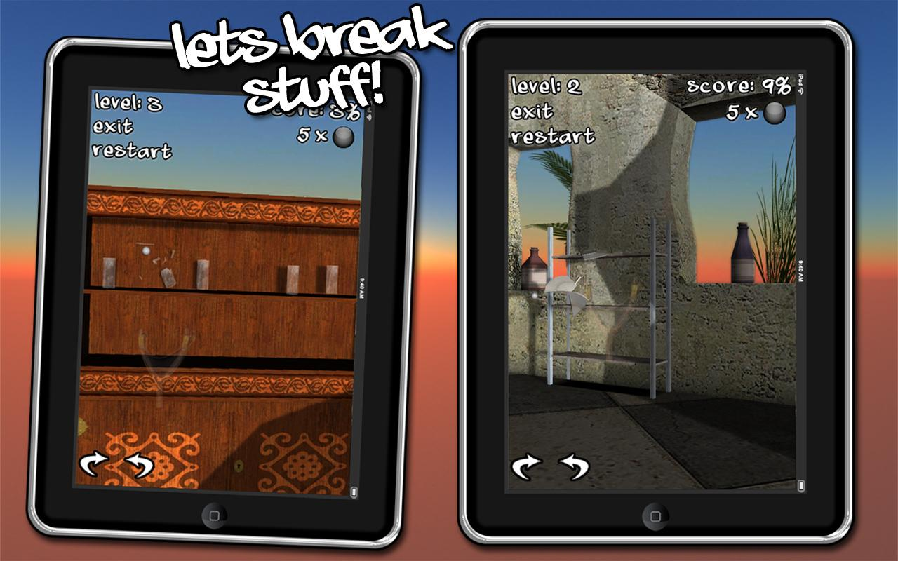 Let's Break Stuff! slingshot - screenshot