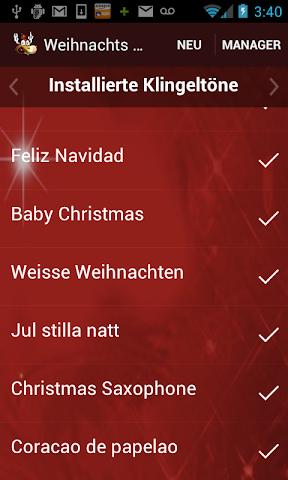 android Weihnachts-Klingeltöne 2015 Screenshot 4