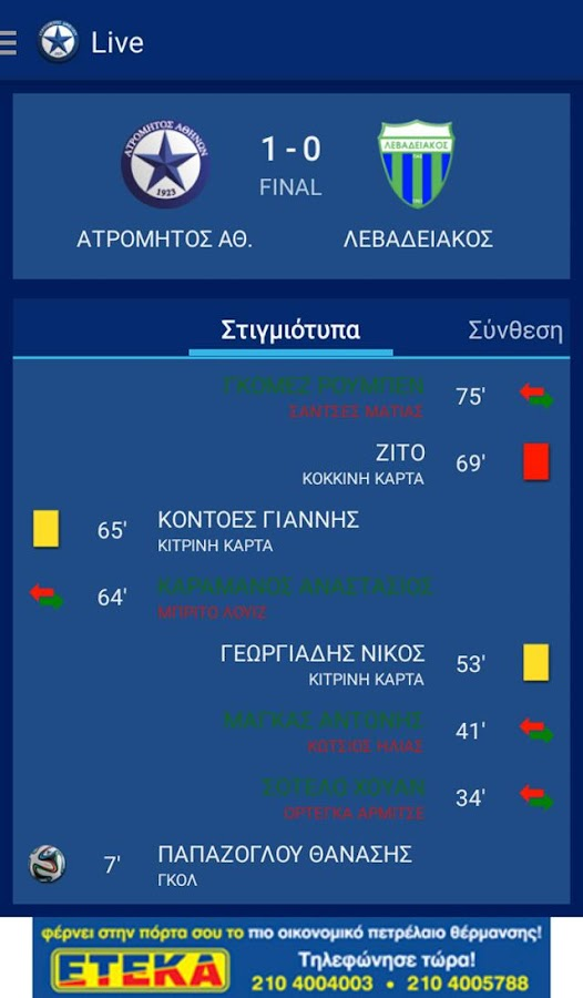 Atromitos FC- screenshot