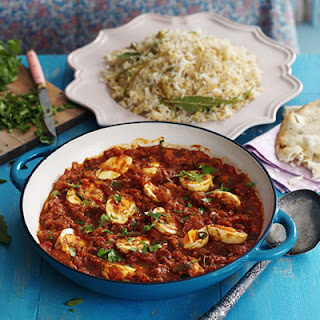 South Indian Egg Curry with Rice & Lentil Pilau Recipe