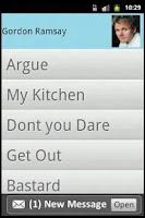 Screenshot of Gordon Ramsay Soundboard