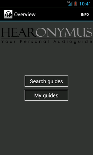 Hearonymus - your audioguide