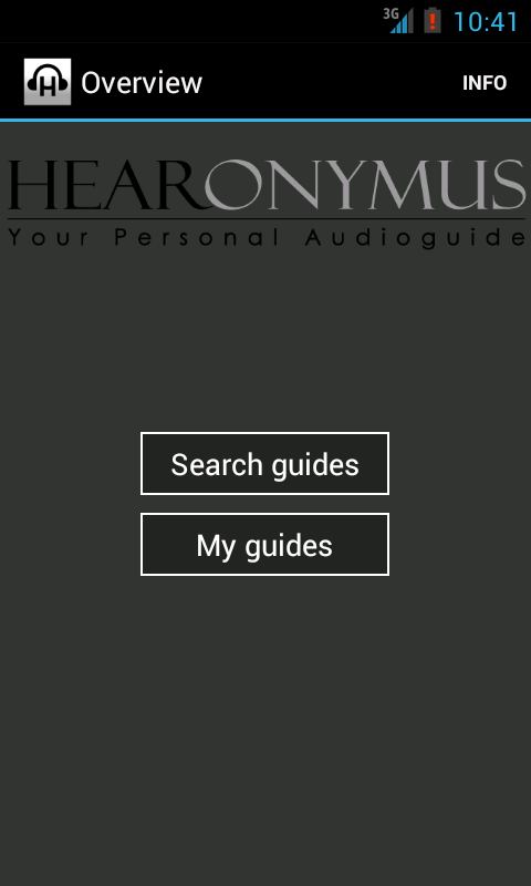 Hearonymus - your audioguide - screenshot