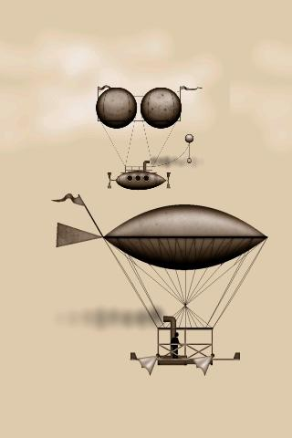 Steampunk Airships Wallpaper - screenshot