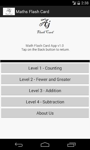 Math Objective Flash Card