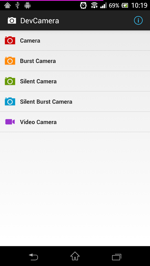 DevCamera [Burst/Silent/Video]- screenshot