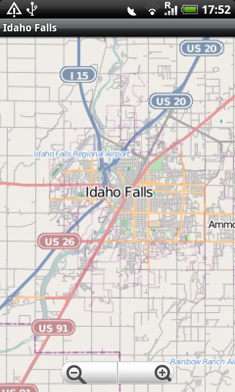 Idaho Falls Street Map MAP